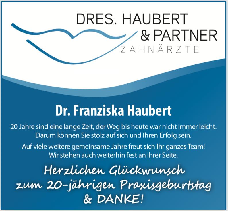 Praxisjubiläum am 15.06.2019: 20 Jahre Zahnarztpraxis Dr. Franziska Haubert